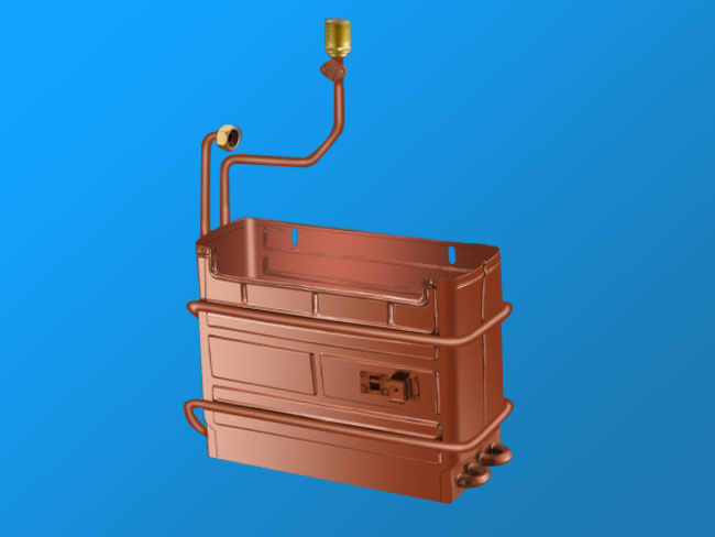 W6L anaerobic copper heat exchanger